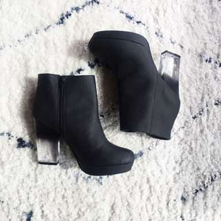 Urban outfitters Lucite booties