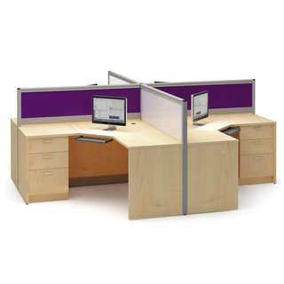 Office Furniture - Full fabric with glass partition