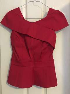 BNWOT review red top size 6