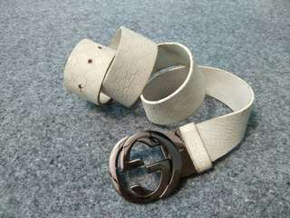 Gucci leather belt ( kulit asli satu lapis )