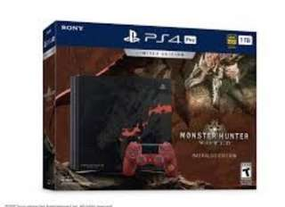 PS4 Pro 1TB Monster Hunter World Limited Edition