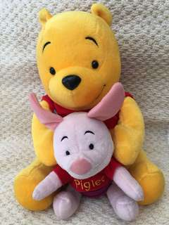 Pooh and Piglet Stuffed Toy