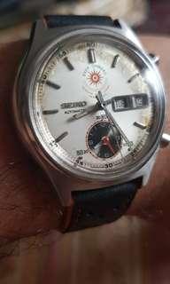 Vintage Seiko 7016 auto flyback chronograph