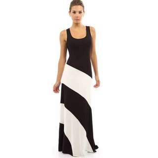 US Inspired Combi Maxi Dress - COD