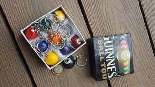 Guinness Key chains pool balls collectibles set