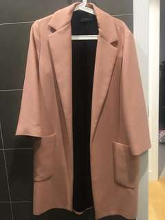 Zara dusty pink/ salmon coat