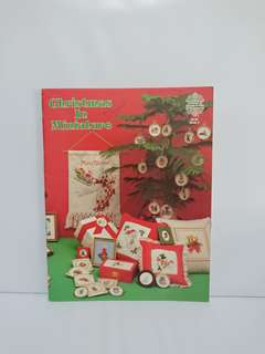 Cross Stitch Book - Christmas In Miniatures