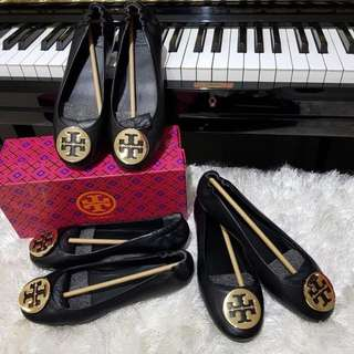 Tory Burch Minnie Travel Ballet Black
