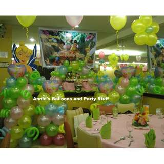 Fairy Theme Balloon Arrangement for Kiddie Party (4 Units of Pillars and 1 Cake Arch)