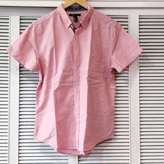 Forever 21 Red/Pink and White Dotted Shirt