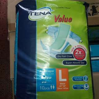 Tena Value Adult Diapers L Size 8x10s