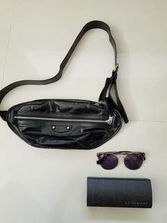 🚚 #balenciaga #歐洲購回  上一趟一次買三個 賣掉兩個 #全新巴黎世家腰包 胸包 全新喔 台灣專櫃賣38000 我隨便賣19999 買到賺到 最後一個 #sunglasses  墨鏡原價13800 售5500 #princeh社團同步全新