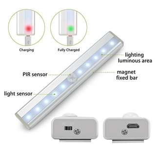 Built in Rechargeable Magnetic motion sensor light rechargeable lamp