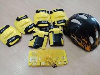 Helmet, elbow knees ankle Guards