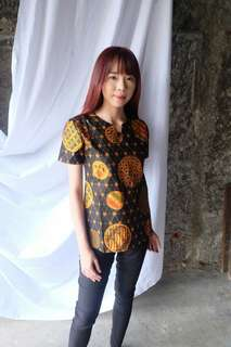 Sunset Batik Top