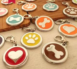 Pet charm with engraved ID