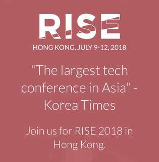 2x RISE Conference HK 2018 Tickets