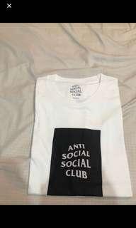 🚚 Anti social social club Assc基本款方塊圖案短踢 黑XL/L 白XL/L