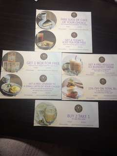 The Coffee Bean Vouchers