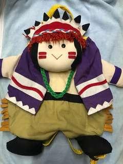 小朋友背包仔 民族造型小布背包袋