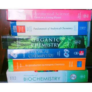 CHEMISTRY BOOKS (College)