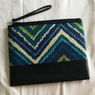 Blue green pouch