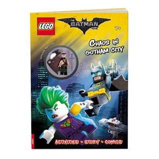 Batman chaos in Gotham city 兒童圖書連一隻人仔 (適合7歲以上)lego minifig 大量現貨或代訂絶版 Exclusive chase SDCC NYCC ECCC Hot Topic Toysrus figure 模型 avengers infinity war 復仇者 無限 滅霸 thanos Spider-Man iron man Thor Loki hulk hulkbuster 蝙蝠俠 蜘蛛俠