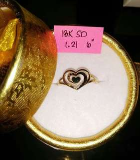 18k saudi gold heart design ring
