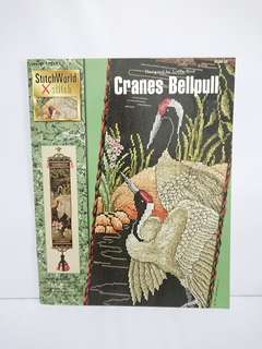Cross Stitch Book - Cranes Bellpull