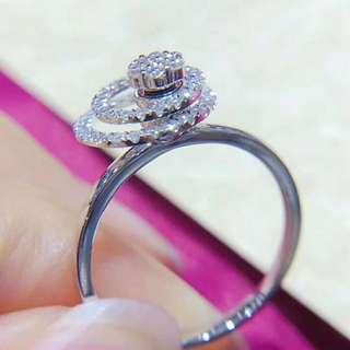 最新款好玩,廠特製3隻0.29ct懸浮旋轉鑽石戒指