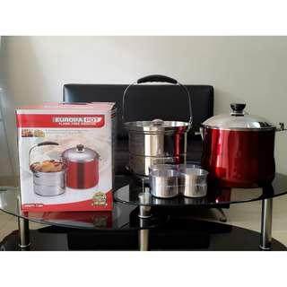 Panci Alat Masak Cepat Europa Pot Flame Free Cooking Izzy Cook Murah