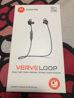 Brand New Motorola Verve Loop bluetooth earphones(sealed)