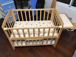 防咬條*超低價高品質紐西蘭進口實木松木 搖籃床嬰兒床兒童床遊戲床