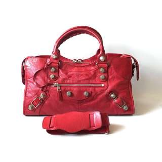 Good deal! Preloved Authentic Balenciaga Part Time Red Coquelicot SGH