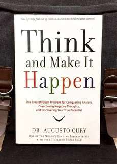 "# Highly Recommended《New Book Condition + How To Use ""Mind Power"" To Realise Your Dream》Dr Agusto Cury - THINK AND MAKE IT HAPPEN : The Breakthrough Program for Conquering Anxiety, Overcoming Negative Thoughts, and Discovering Your True Potential"