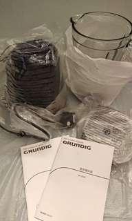 執屋清櫃 廚房 全新無用過 德國名牌 Grundig  1.5L 攪拌機  mixer 有小瑕疵 有說明書 只限屯門置樂面交 $250