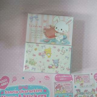日本版 Sanrio Wish me mell memo紙及貼紙