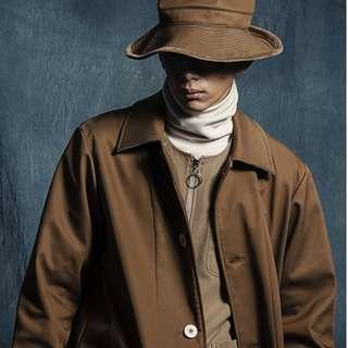 wisdom 駝色 米色 大衣 外套 m號 幾乎全新