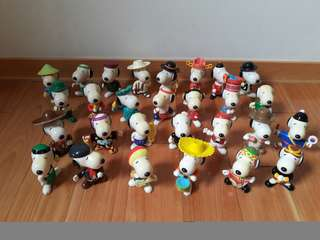 [絕版]1999年Snoopy 環遊世界 一套28個 麥當勞玩具/McDonald's史奴比 世界之旅