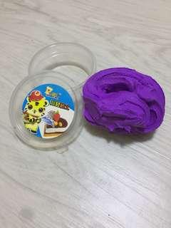 Purple dry clay
