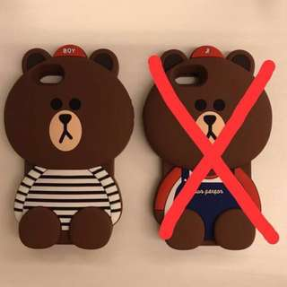 Line Bear iPhone 6/6s 3D Cover