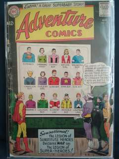 DC Adventure Comics 1963. Legion of Superheroes.