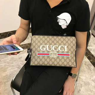 Imported Real Leather 28cm Clutch Bag