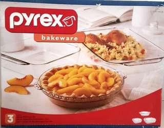 3pc Pyrex Bakeware