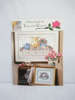 Cross Stitch Book - Tea With Roses
