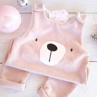 ✔️STOCK - SWEET PINK BEAR NEWBORN BABY TODDLER GIRL ROMPER JUMPER KIDS CHILDREN CLOTHING