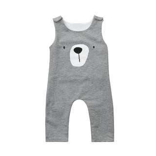 ✔️STOCK - CUTE GREY BEAR NEWBORN BABY TODDLER BOY/GIRL ROMPER JUMPER KIDS CHILDREN CLOTHING