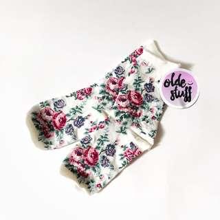 H&M flowery sock white