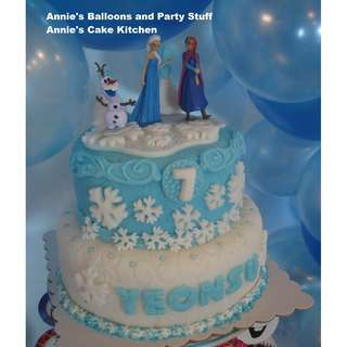 2-Layer Frozen Theme Cake