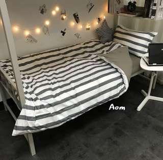 🚚 灰系列 床包組 被單 枕套 床單 床墊 標準雙人 標準單人 加大床墊 宜家 居家佈置 居家裝飾
